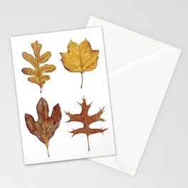 Fall Leaves Painting Stationery Cards