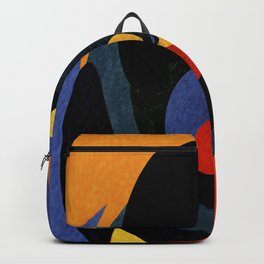 Abstract art in curved patterns Backpack
