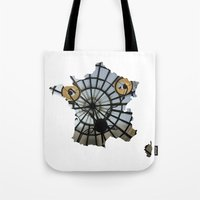 france Tote Bags featuring France by Isabel Moreno-Garcia