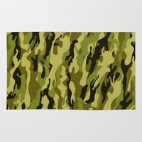 camouflage Area & Throw Rugs featuring Camouflage by Texnotropio