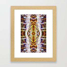 Light Dance Kaleidoscope Edit 2 Framed Art Print