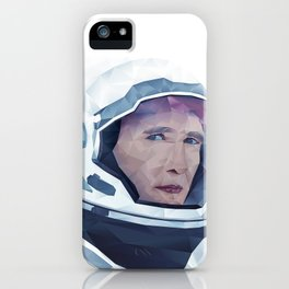 Interstellar Low Poly Poster iPhone Case
