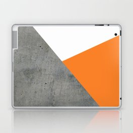Concrete Tangerine White Laptop & iPad Skin