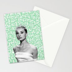 audrey with arabic calligraphy background Stationery Cards