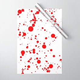 310001 Blood Red and White Painting Wrapping Paper