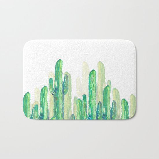 cactus vertical Bath Mat