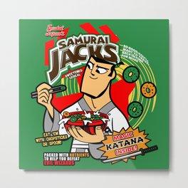 Samurai Cereal Metal Print