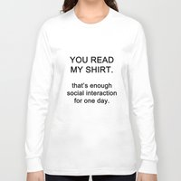 quotes Long Sleeve T-shirts featuring quotes by kawaiicookie