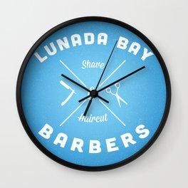 Barber Shop : Lunada Bay Barbers Wall Clock