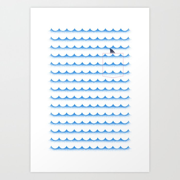 Discover the motif OCEAN SHARK by Robert Farkas as a print at TOPPOSTER