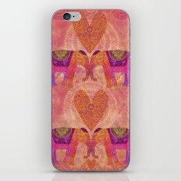 Elephants in Love Heart Art iPhone Skin