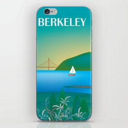 Berkeley, California - Skyline Illustration by Loose Petals iPhone Skin