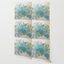 Ocean Hue Sea Glass Wallpaper