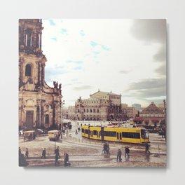 Dresden mini-series no. 3 - Theaterplatz Metal Print