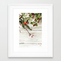xmas Framed Art Prints featuring Xmas by Ylenia Pizzetti