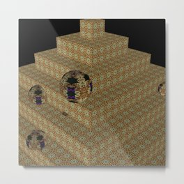 Iconically Pyramidal 3 Metal Print