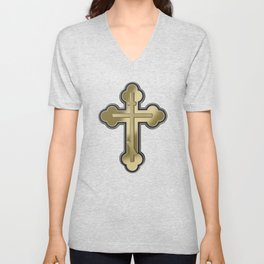 Orthodox cross Unisex V-Neck