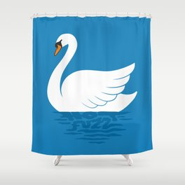 Just The One Swan Actually Shower Curtain