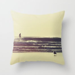 Sunset Surfers Throw Pillow