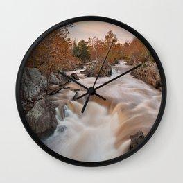 Great Autumn Falls Wall Clock
