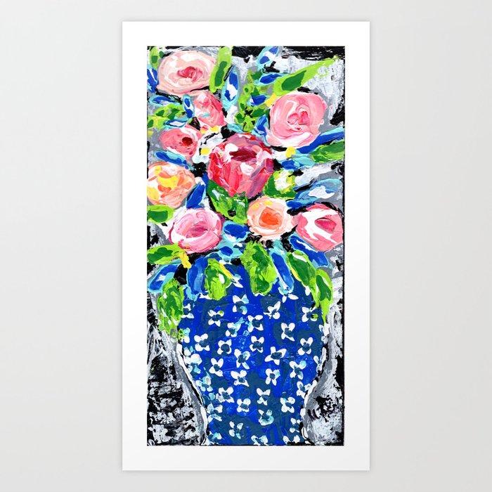 Bright Florals Ginger Jar Art Print