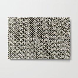 Silver net Metal Print
