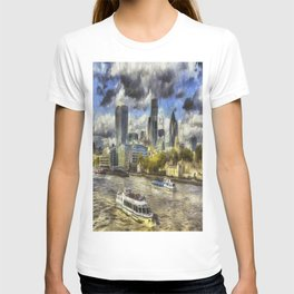 The River Thames And City Art T-shirt