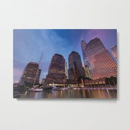 Sunset at Brookfield Place in Battery Park 2017 Metal Print
