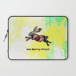 Happy Easter Rabbit - Keep Runing with You Laptop Sleeve
