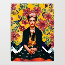 Frida Tropical Poster