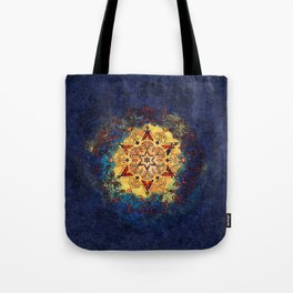 Star Shine in Gold and Blue Tote Bag