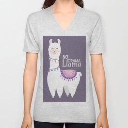 No Drama Llama Unisex V-Neck