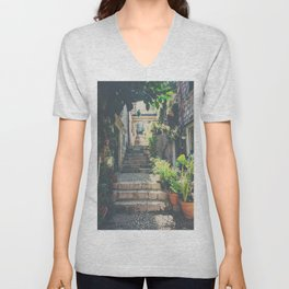 the prettiest of stairs ... Unisex V-Neck