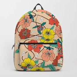 Potentillas and Daisies Backpack
