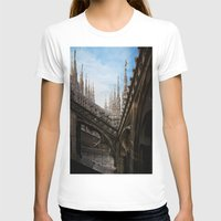 spires T-shirts featuring Duomo di Milano spires by Marc Daly