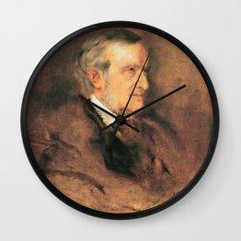 Richard Wagner (1813 – 1883) by Franz von Lenbach (1836 - 1904) Wall Clock
