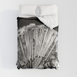 Money - Black And White Comforters
