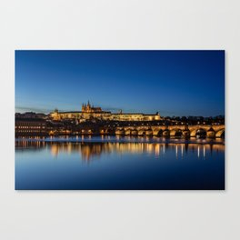 Charles Bridge and Prague Castle, Czech Republic Canvas Print