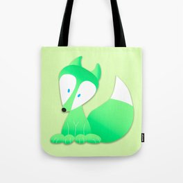 Little Green Fox Tote Bag