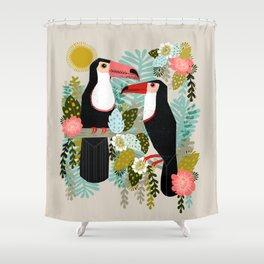 Toucans by Andrea Lauren  Shower Curtain