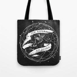 Per Aspera Ad Astra (White) Tote Bag
