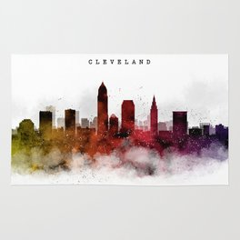Cleveland Watercolor Skyline Rug