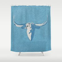 cow Shower Curtains featuring Cow by Saundra Myles