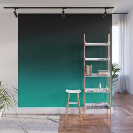 Ombre Turquoise Wall Mural