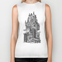 madrid Biker Tanks featuring MADRID 360º by DOURONE