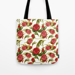 Eucalyptus Leaves and Protea Flowers Tote Bag