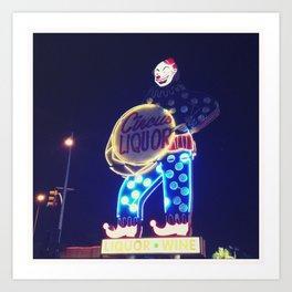 Circus Liquor Neon Sign Art Print