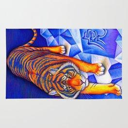 Chinese Zodiac Year of the Tiger Rug