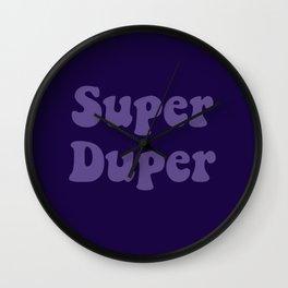 Super Duper - Ultra Violet Wall Clock