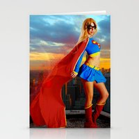 supergirl Stationery Cards featuring Supergirl by Shana-e